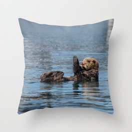 Sea_Otter I - Kachemak_Bay, Alaska Throw Pillow
