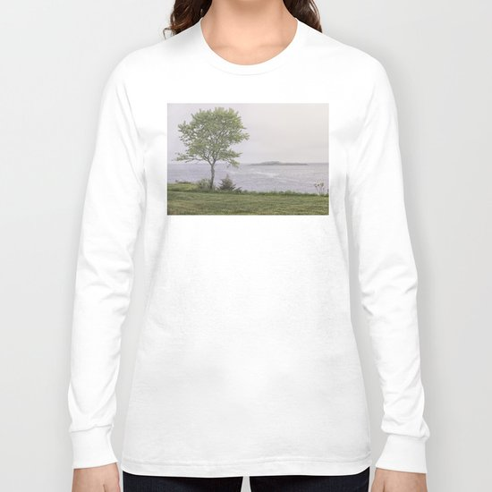 Lone tree by the sea Long Sleeve T-shirt