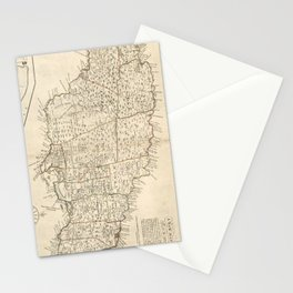 Vintage Map of Jamaica (1771) 2 Stationery Cards
