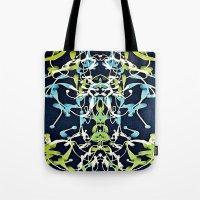 art nouveau Tote Bags featuring Nouveau by Tina Carroll