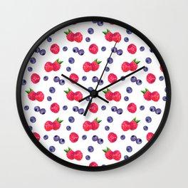 Watercolor Berries Wall Clock