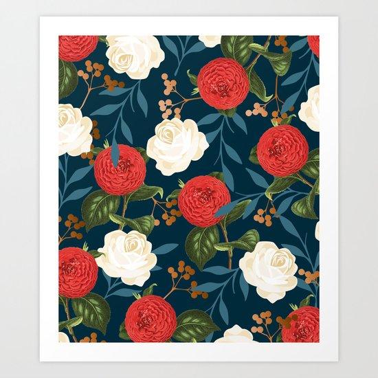 Floral Obsession || #society6 #decor #buyart Art Print