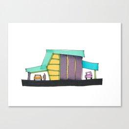 Retro Auto Shop Illustration 101 Canvas Print