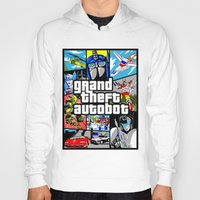 gta Hoodies featuring Grand Theft Autobot (GTA G1 Transformers) by Demonlinks