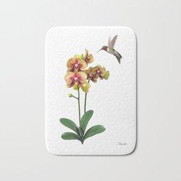 Hummingbird & Phalaenopsis Bath Mat
