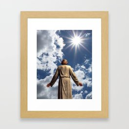 Jesus Walks Framed Art Print