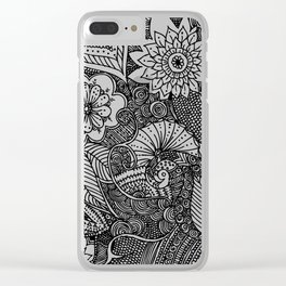 Doodle III Clear iPhone Case