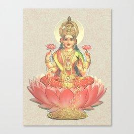 Lakshmi, Goddess of Love (Coral) Canvas Print