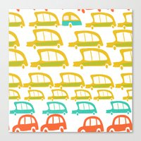 cars Canvas Prints featuring cars by mummysam