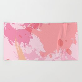 Pink Skies Abstract Beach Towel