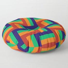 Rainbow Woven Pattern Floor Pillow