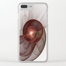 Abstract Digital Art, Fantasy Figure Clear iPhone Case