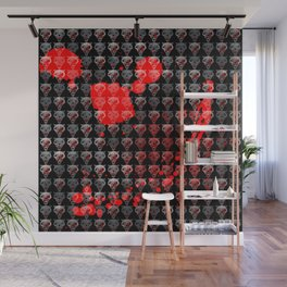 Wolves Pattern Wall Mural