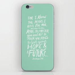 Jeremiah 29: 11 x Mint iPhone Skin