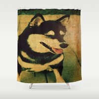 best friend Shower Curtains featuring Best friend by Truly Juel