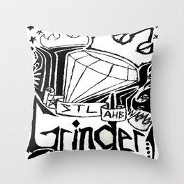 STL Grinder Throw Pillow
