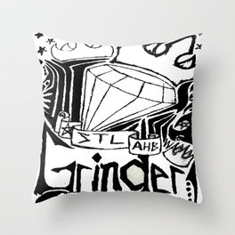 STL Grinder Throw Pillow