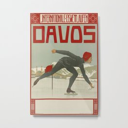 Davos Vintage Travel Poster Metal Print