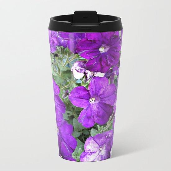 Petunias Metal Travel Mug