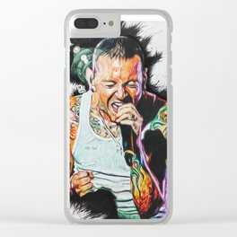Chester bennington 'One more light' Clear iPhone Case