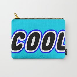 COOL in Brick Font Logo Design [Alternate Colors] by Chillee Wilson Carry-All Pouch