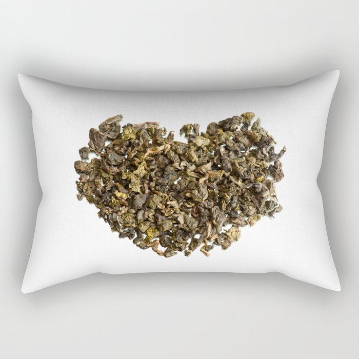 Dried and curled leaves of Oolong Rectangular Pillow