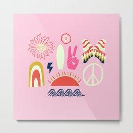 peace + harmony + surf Metal Print