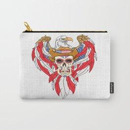 American Eagle Cowboy Sugar Skull Carry-All Pouch
