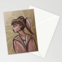 Monstera girl Stationery Cards