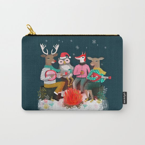 Fireside Christmas by Andrea Lauren  Carry-All Pouch