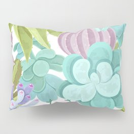 Tropical Cactus Pattern Pillow Sham