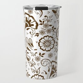 Mehndi or Henna Florals Travel Mug