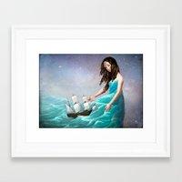 destiny Framed Art Prints featuring Destiny by Christian Schloe
