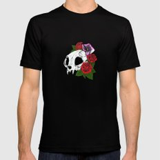 Kitty Skull Mens Fitted Tee Black MEDIUM