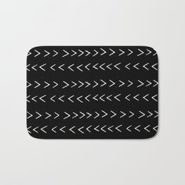 mudcloth 14 minimal textured black and white pattern home decor minimalist beach Bath Mat