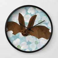 virginia Wall Clocks featuring Virginia by Santiago Uceda
