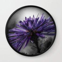 wet aster Wall Clock