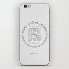 Joshua 24:15 - (Letterpress) Monogram R iPhone & iPod Skin