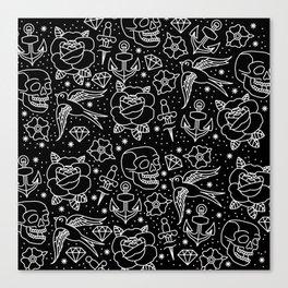 Black flash Canvas Print