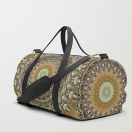 Antique Jeweled Mandala Duffle Bag