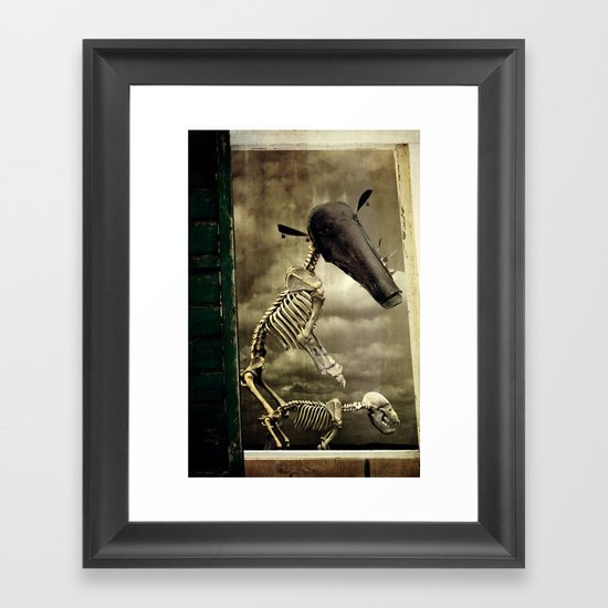 Pet Skeleton Framed Art Print