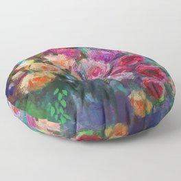 Tea Roses Floor Pillow