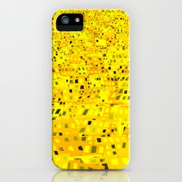 golden chaotic city iPhone Case