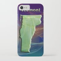 vermont iPhone & iPod Cases featuring Vermont Map by Roger Wedegis