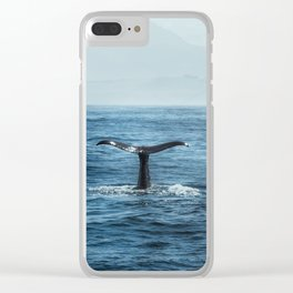 Whale tail - Hamptons Style Clear iPhone Case