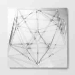 Geometry in Black and White Metal Print