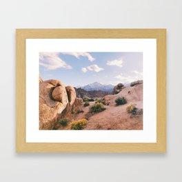 Alabama Hills Sunset Framed Art Print