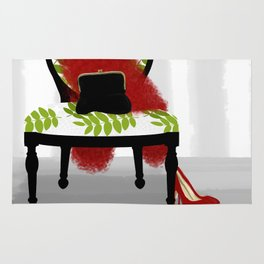 A Woman's Night Out - Dressing room art Rug