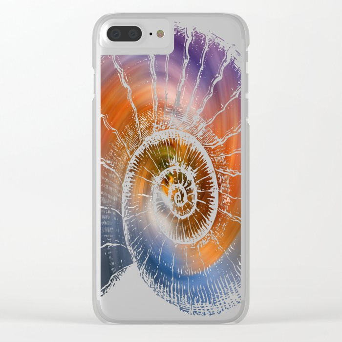 The Nautilus shell  Transparent Clear iPhone Case