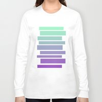 ombre Long Sleeve T-shirts featuring Ombre by Miranda Williams